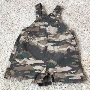 Carhartt Camo Overall Shorts Size 9 months